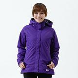 【遊遍天下】女款JIS90%羽絨禦寒中長版羽絨外套A067紫色