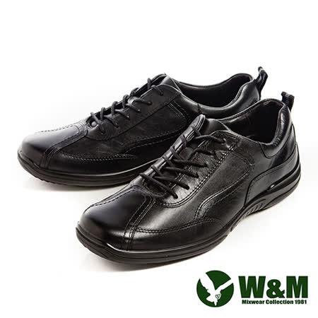W&M(男)Sofit綁帶防滑休閒男鞋 黑