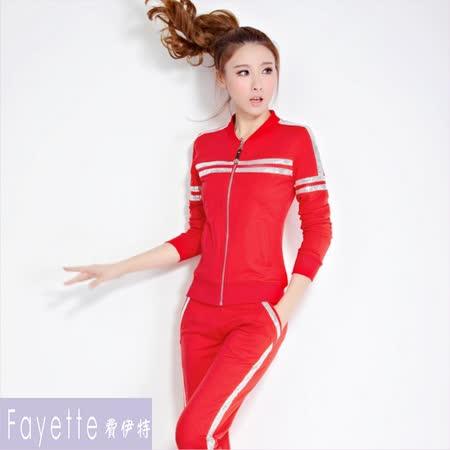 【Fayette 費伊特】薄料運動套裝低調小華麗-紅色