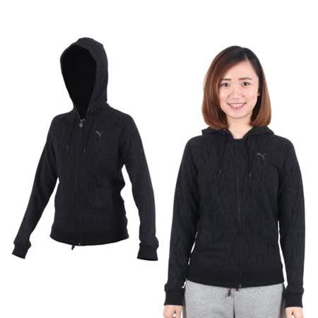 (女) PUMA 外套- 刷毛 連帽外套 休閒外套 黑