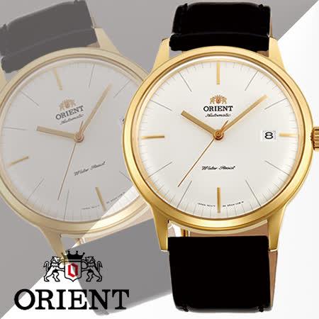 ORIENT 東方錶 復古簡約大三針石英男用腕錶-40mm/FER2400JW