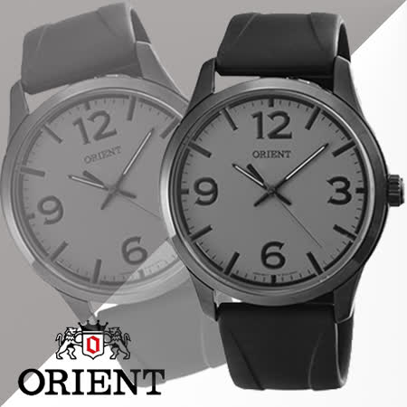 ORIENT 東方 黑色極限運動潮流時尚男用腕錶-IP黑X灰色/42mm/FQC0U008K