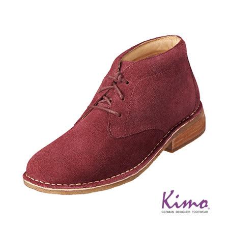 【Kimo德國品牌手工氣墊鞋】復古反毛皮短靴‧牛皮‧短靴‧手縫(熱情紅K15WF082037)