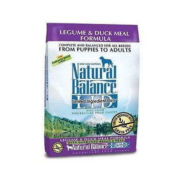 Natural Balance 美國NB 低敏無穀鷹嘴豆鴨肉-全犬 飼料 4.5磅 X 1包
