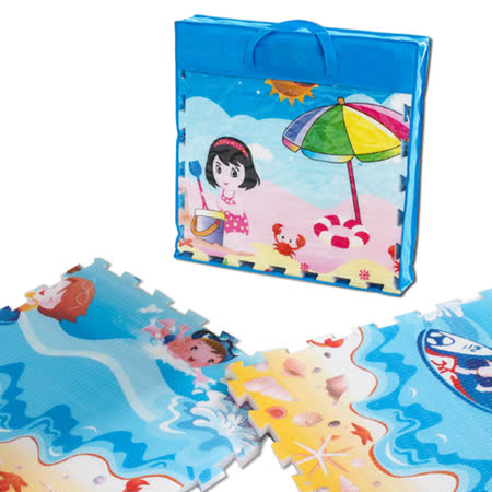 【BabyTiger虎兒寶】EPE 雙面環保遊戲巧拼式地墊 (加厚版 2cm ) 夢幻王國+小火車款