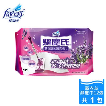 【驅塵氏】抗菌濕拖巾-薰衣草潔淨配方(12張/包)_WW7066PXF