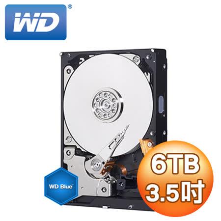 WD 威騰 Blue 藍標 6TB 3.5吋 64M SATA3 內接硬碟(WD60EZRZ)