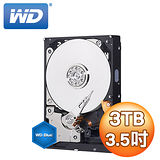WD 威騰 Blue 藍標 3TB 3.5吋 64M SATA3 內接硬碟(WD30EZRZ)