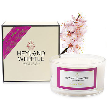 【H&W英倫薇朵】櫻花三蕊香氛燭 480g