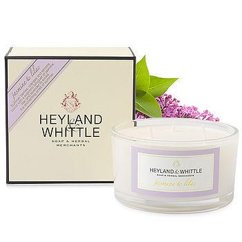 【H&W英倫薇朵】茉莉丁香三蕊香氛燭 480g