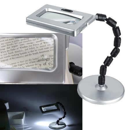 LED方型高倍數放大鏡彎管檯燈MG3B-2Z