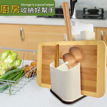 台灣製 菜刀/砧板/餐具收納瀝水架