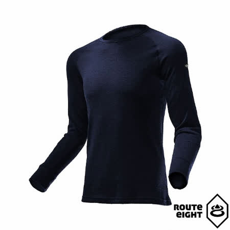 Route8 男 WARM 圓領保暖衣(海軍藍)