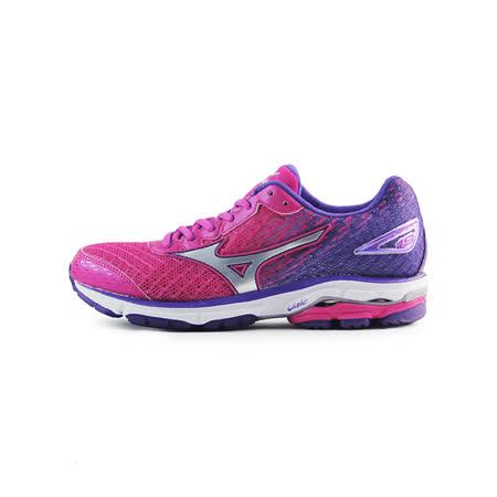 (女)MIZUNO美津濃 WAVE RIDER 19 W 慢跑鞋 桃紅/紫-J1GD160603
