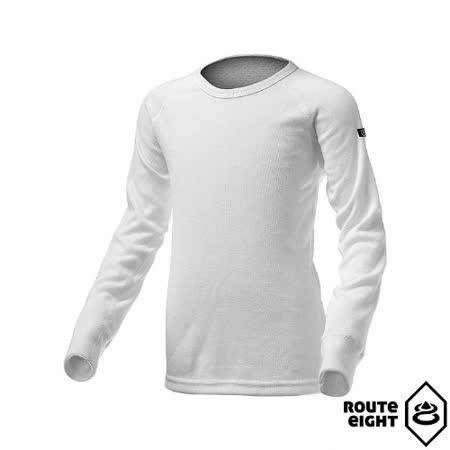 Route8 童 WARM 圓領保暖衣(白色)