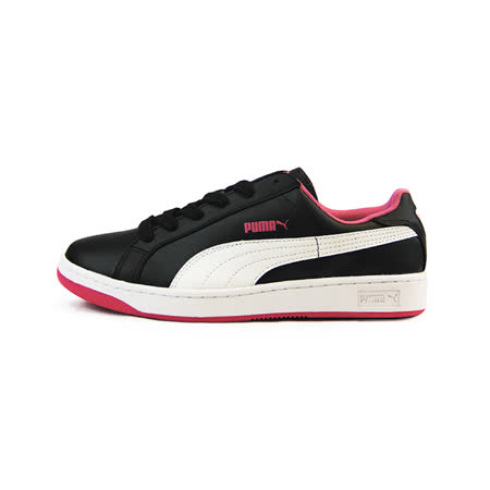 (大童)PUMA PUMA SMASH L JR 休閒鞋 黑/粉桃紅-35733812