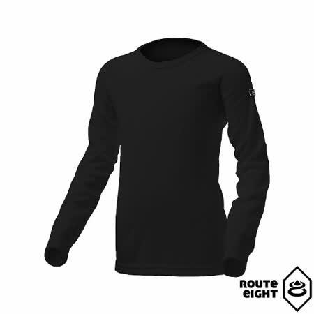 Route8 童 WARM 圓領保暖衣(黑色)
