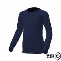 Route8 童 WARM 圓領保暖衣(海軍藍)