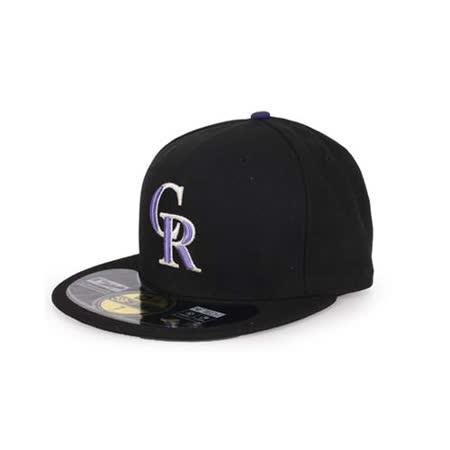 MLB NEW ERA 落磯山隊帽-AC- 主場正式球員帽 59FIFTY 黑紫