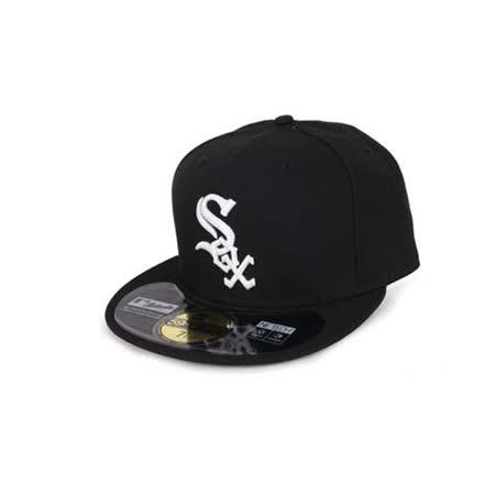 MLB NEW ERA 白襪隊帽-AC- 59FIFTY 黑白