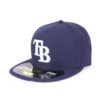 MLB NEW ERA 光芒隊帽-AC- 59FIFTY 丈青水藍白