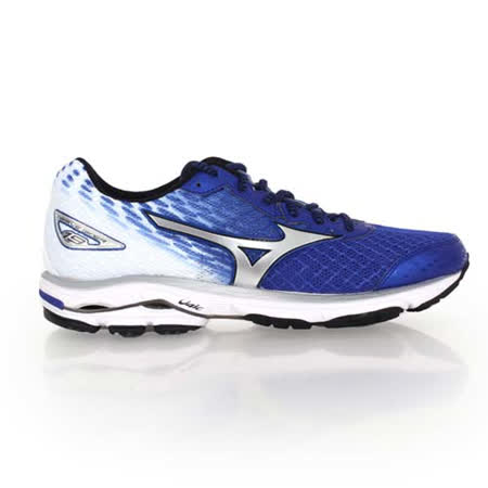 (男) MIZUNO WAVE RIDER 19 慢跑鞋-慢跑 路跑 美津濃 藍白銀