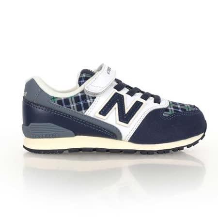 (童) NEWBALANCE 996系列 男女中復古休閒鞋-寬楦 NB 格紋丈青