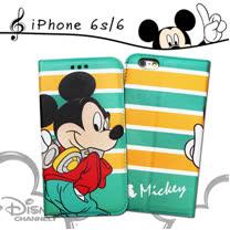 迪士尼授權正版 iPhone6s / 6 i6s 4.7吋 音樂派對磁力皮套(Music米奇)