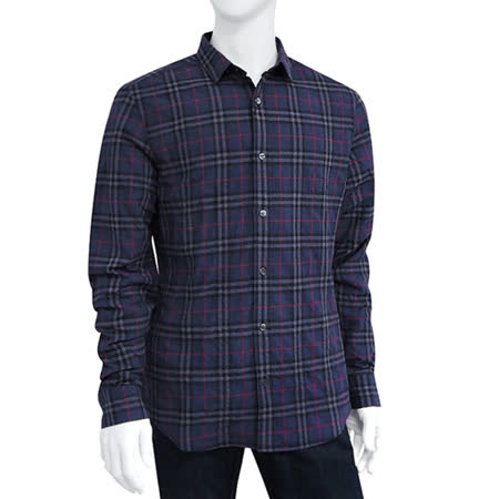 【勸敗】gohappy 線上快樂購BURBERRY 格紋男性長袖上衣-深藍色【M號】有效嗎台北 百貨