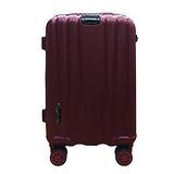 簡約線條霧面拉桿行李箱20吋-酒紅