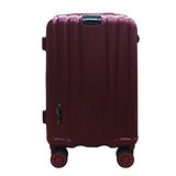 簡約線條霧面拉桿行李箱24吋-酒紅