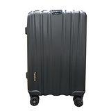 簡約線條霧面拉桿行李箱20吋-黑