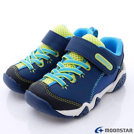 日本Carrot機能童鞋-美式綁帶設計休閒款-KC3965深藍-(15cm-19cm)