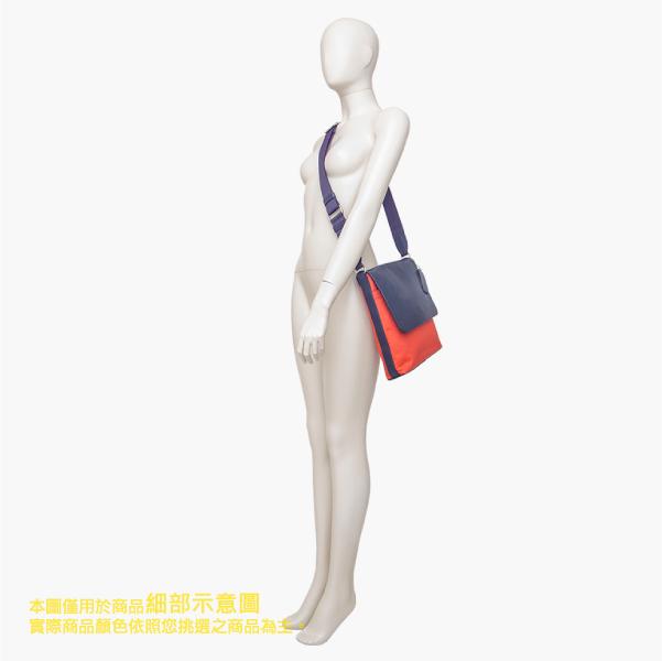 COACH 男仕品味 織布 / 側肩 / 斜肩 / 多功能包_橘藍色