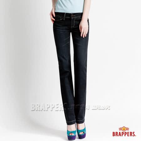 (女)BRAPPERS 女款 新美腳二代系列-女用直統褲-黑