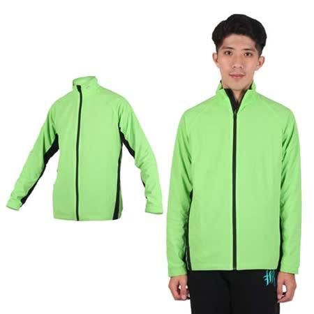 (男) MJ3 雙層拉鍊外套- 立領 台灣製 淺綠黑
