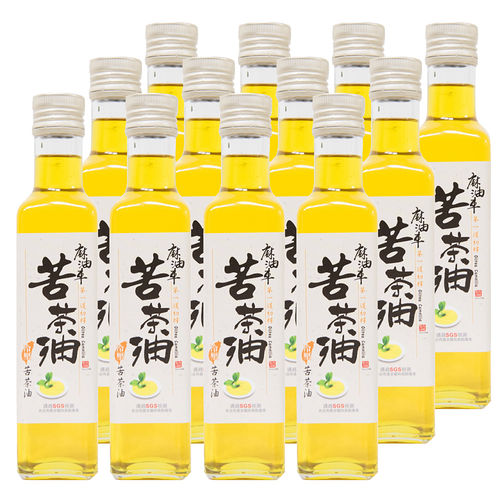 【麻油車】頂級冷壓苦茶油(255ML/瓶)x12瓶組