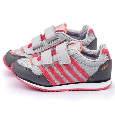 K-swiss 大童 輕量避震運動鞋53543-095-灰粉
