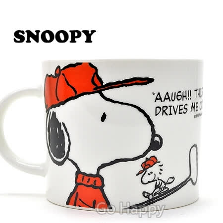 【高爾夫Snoopy】陶瓷馬克湯杯