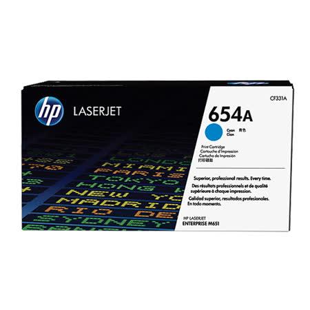 【HP】CF331A (654A)   原廠藍色碳粉匣/ 適用 HP CLJ-M651