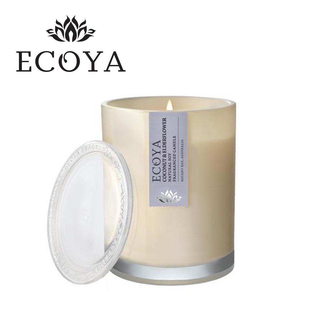 澳洲ECOYA 水晶香氛蠟燭-椰香接骨木 270g