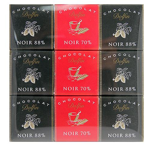 比利時Dolfin 朵芬綜合純黑巧克力 80g