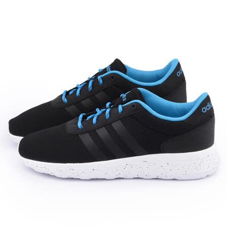 Adidas 男款 Lite Racer 經典復古鞋F98306-黑