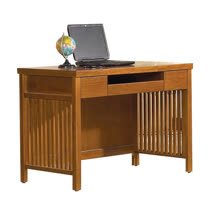 【愛麗娜】Tyrande 3.5尺實木書桌/電腦桌