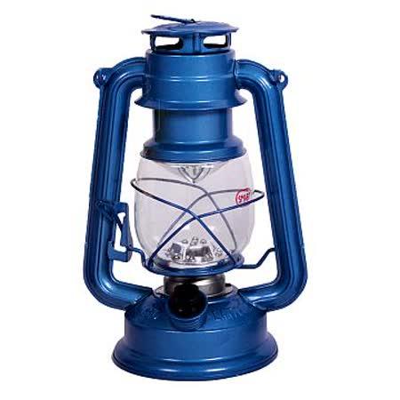 【韓國熱銷】復古油燈型LED營燈(繽紛版-藍色)