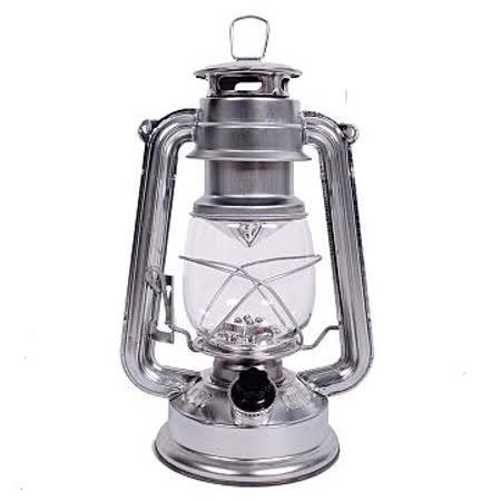 【韓國熱銷】復古油燈型LED營燈(繽紛版-銀色)