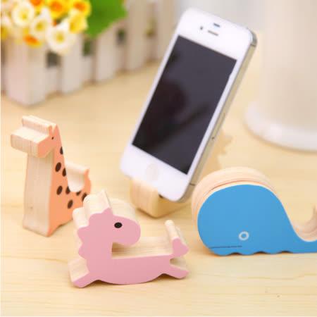 創意木質可愛動物手機支架 通用手機支架 手機座