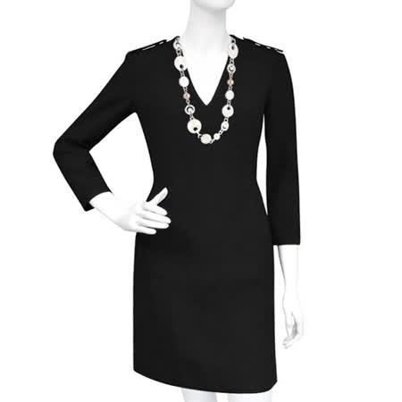 【好物分享】gohappyBURBERRY V領七分袖洋裝-黑色【US 6號】評價愛 買 分店