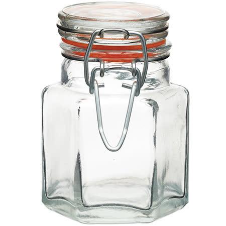 《KitchenCraft》六角扣式密封玻璃罐(100ml)