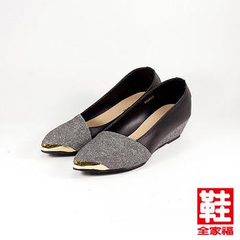 (女) RIN RIN 蔥面斜口楔型鞋 灰 鞋全家福